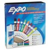 Low-Odor Dry Erase Marker Set w/ Eraser & Cleaner