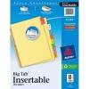 Big Tab Buff Colored Insertable Dividers - Multicolor 8 Tabs
