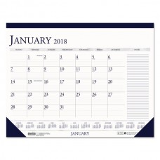 Recycled Two-Color Monthly Desk Pad Calendar w/ Large Notes Section